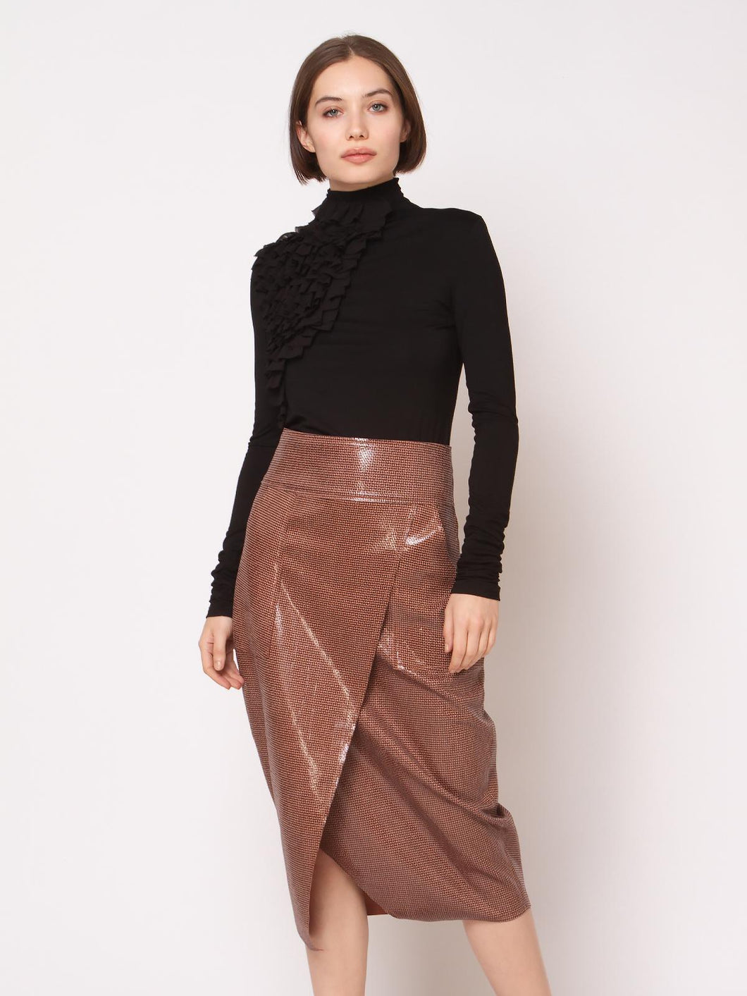 Vee Split Front Skirt