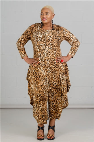 Nina Animal Print Jumpsuit