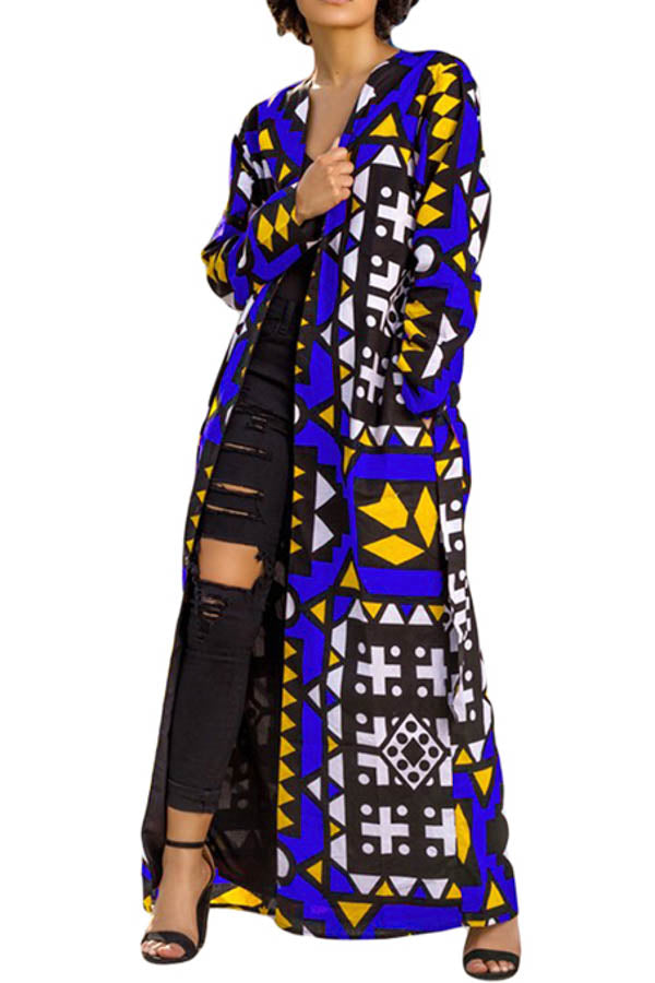 Tribal Print Abstract Jacket - Duster