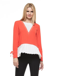 Crepe Pleated Top