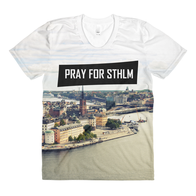 Sublimation PRAY CITY women's crew neck t-shirt