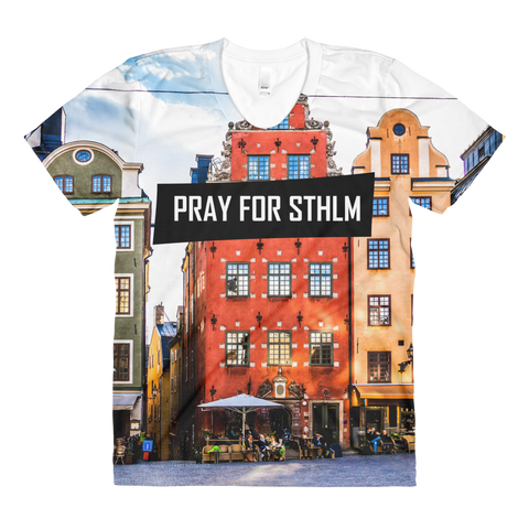 Sublimation PRAY  women's crew neck t-shirt