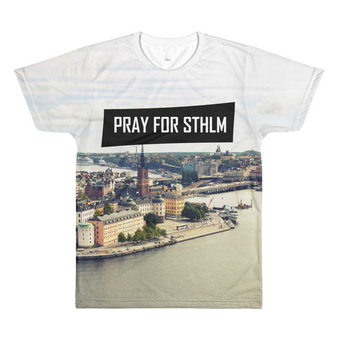 Sublimation PRAY CITY men's crewneck t-shirt