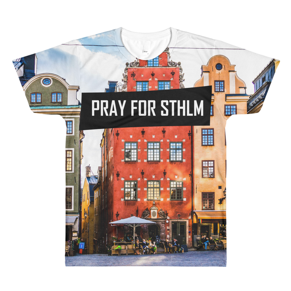 Sublimation PRAY  men's crewneck t-shirt