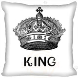King And Queen Lovers Zippered Pillow