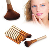 Golden 12 Pcs/lot Make Up Brushes