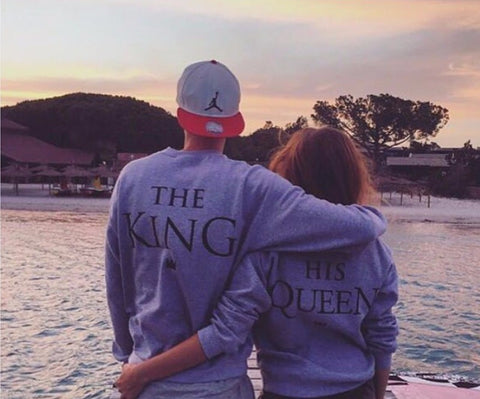 KING QUEEN Casual Long Sleeve Hoodies