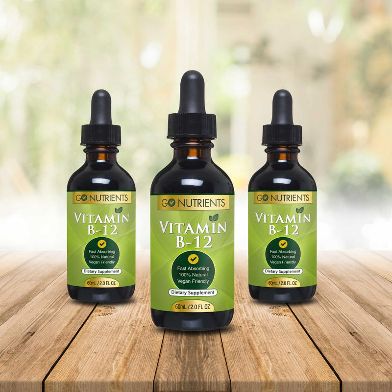 Vitamin B12 Sublingual Liquid Drops 3 pack