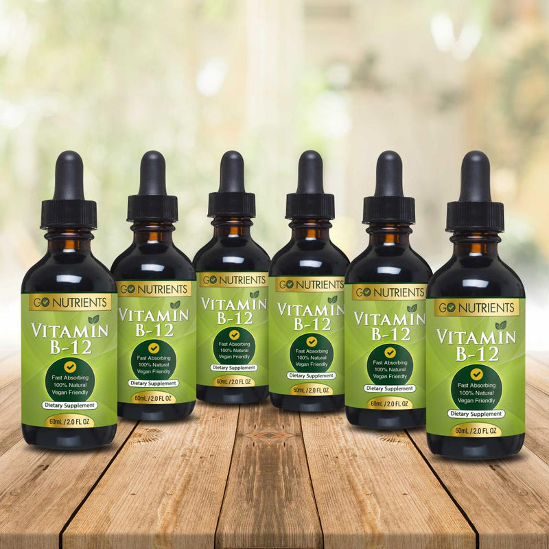 Vitamin B12 Sublingual Liquid Drops 6 pack