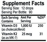 Vitamin D3 with K2 Liquid Drops