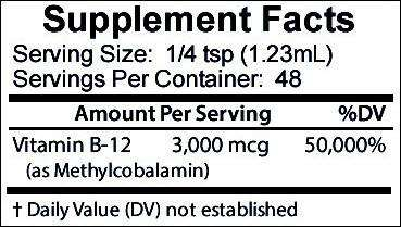 Vitamin B12 (Methylcobalamin) - Fast Acting Liquid Drops