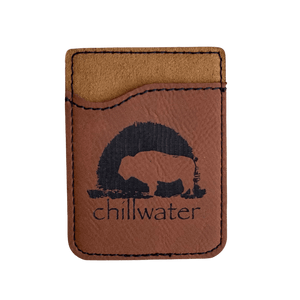 Phone Leather Card Holder - Buffalo