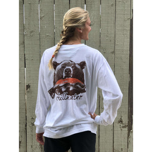 Long Sleeve T-Shirt Comfort Color - Riverside Grizzly; Multiple Colors