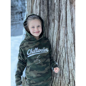 Comfort Stretch Youth Camo Hoodie Sweatshirt- Vintage Chill