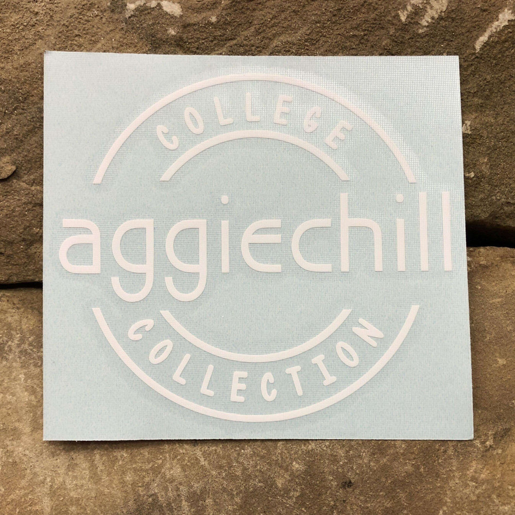 Aggiechill White Transfer Sticker