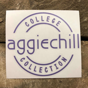 Aggiechill Purple Transfer Sticker