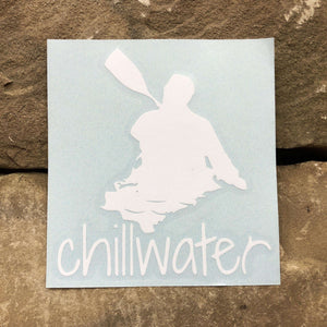 Classic Kayak White Transfer Sticker