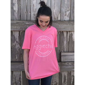 Super Soft Short Sleeve V-Neck - Aggiechill
