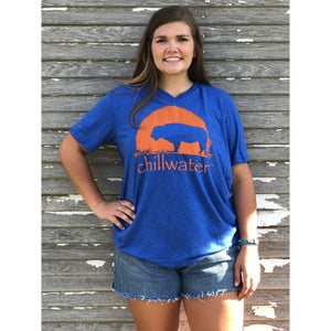 Short Sleeve V-Neck Super Soft - Buffalo; Multiple Colors