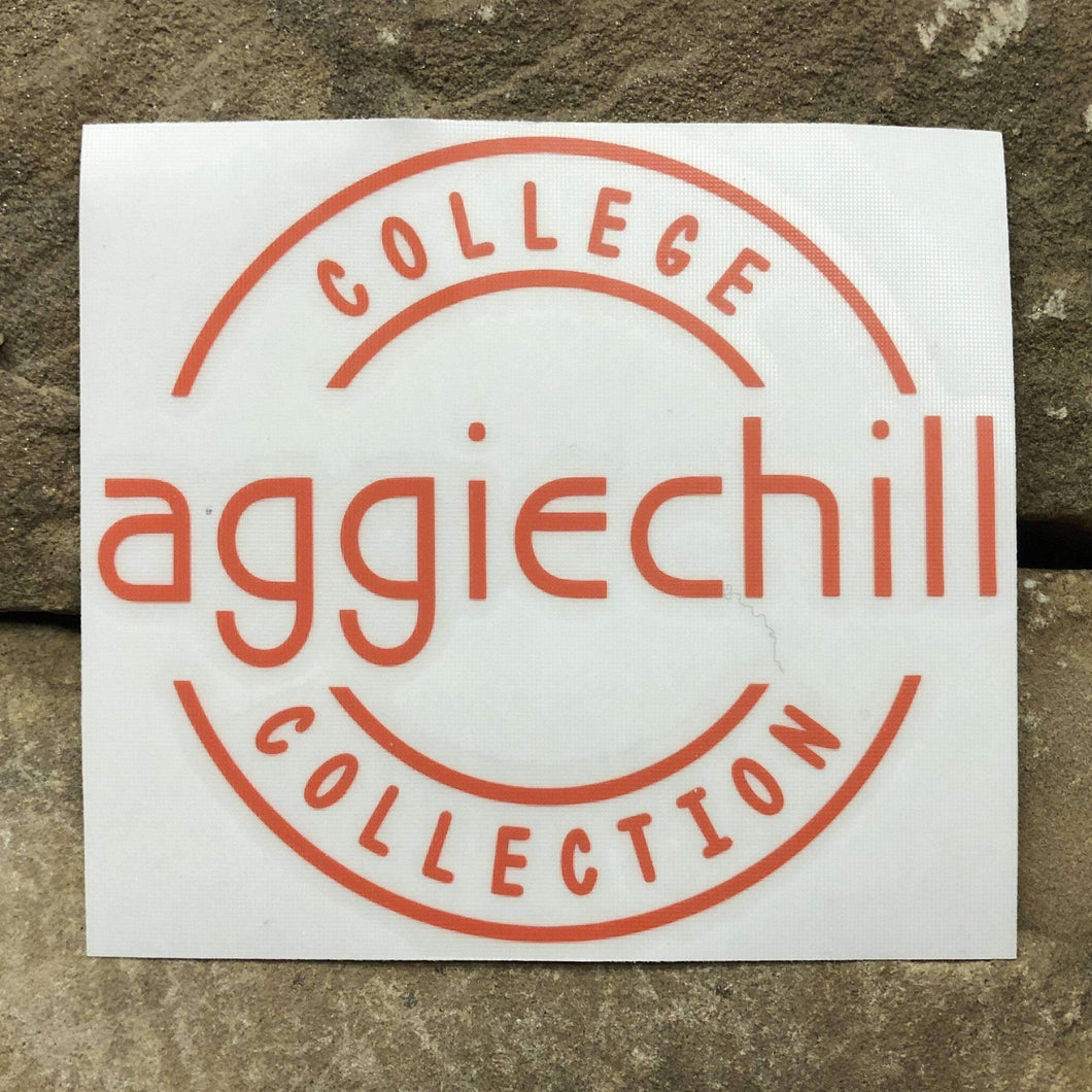 Aggiechill Orange Transfer Sticker
