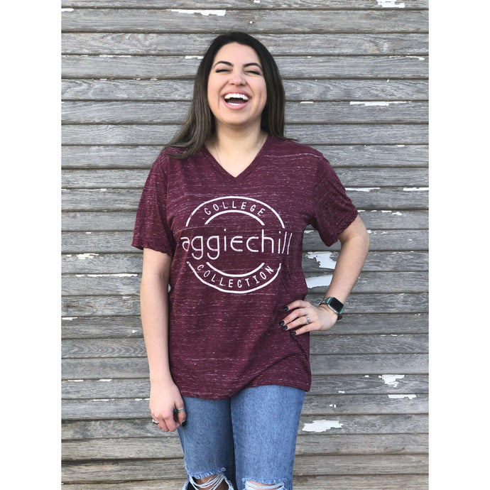 Short Sleeve V-Neck Super Soft - Aggiechill