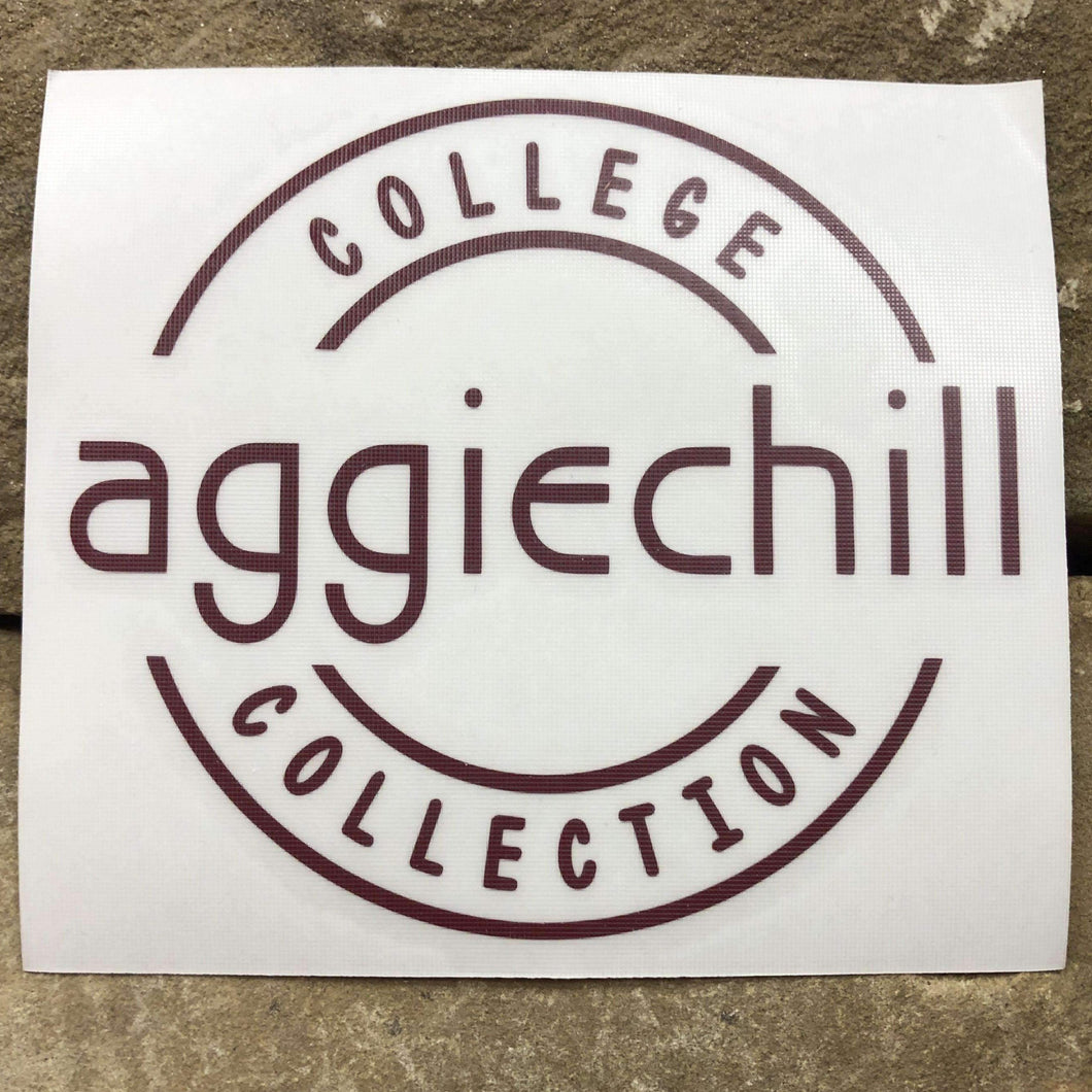 Aggiechill Maroon Transfer Sticker