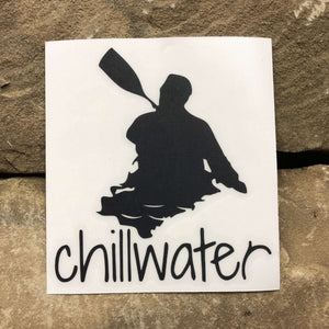 Classic Kayak Black Transfer Sticker