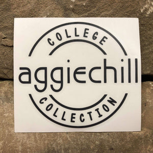 Aggiechill Black Transfer Sticker