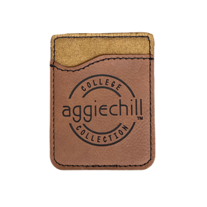 Phone Leather Card Holder - Aggiechill