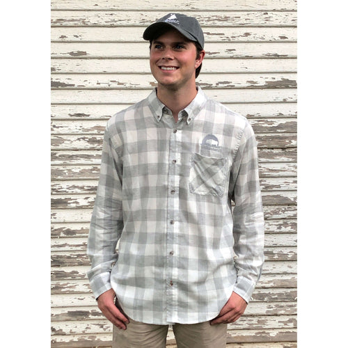 Plaid Classic Flannel Grey/White - Unisex