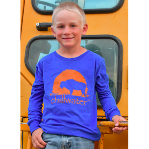 YOUTH Super Soft Long Sleeve  T-Shirt - Buffalo; Multiple Colors