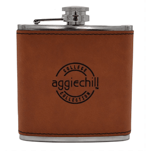 Flask Leather Bound - Aggiechill