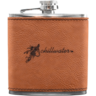 Flask Leather Bound - Hook & Fly