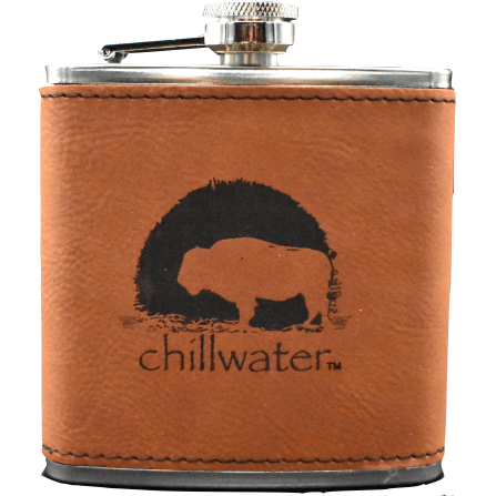 Flask Leather Bound - Buffalo