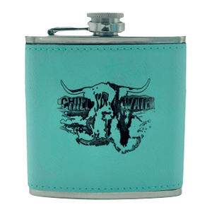 Flask Leather Bound - Highlander