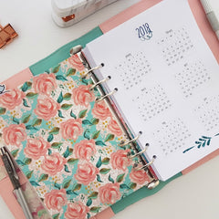 Pink Floral Planner from Chasing Planner Peace