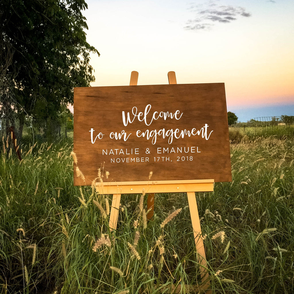 Welcome to Our Engagement Sign