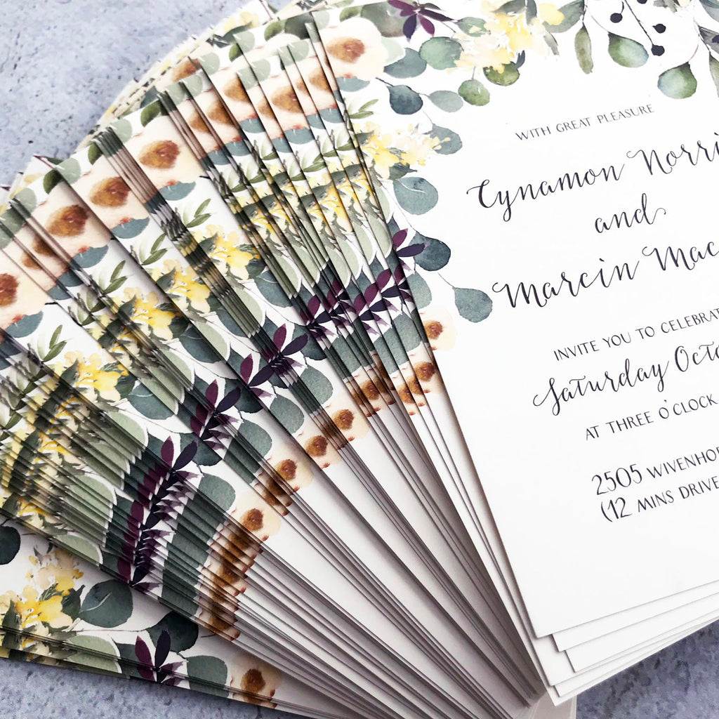 Australian Native Invitations