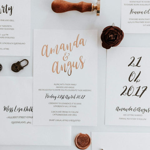 Real Foil Invitation Suite