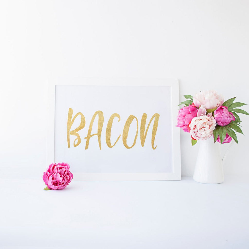 Dolkens Invitations Foiled Prints Bacon