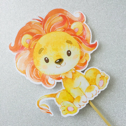 Dolkens Invitations Other Events African Lion Cake Topper