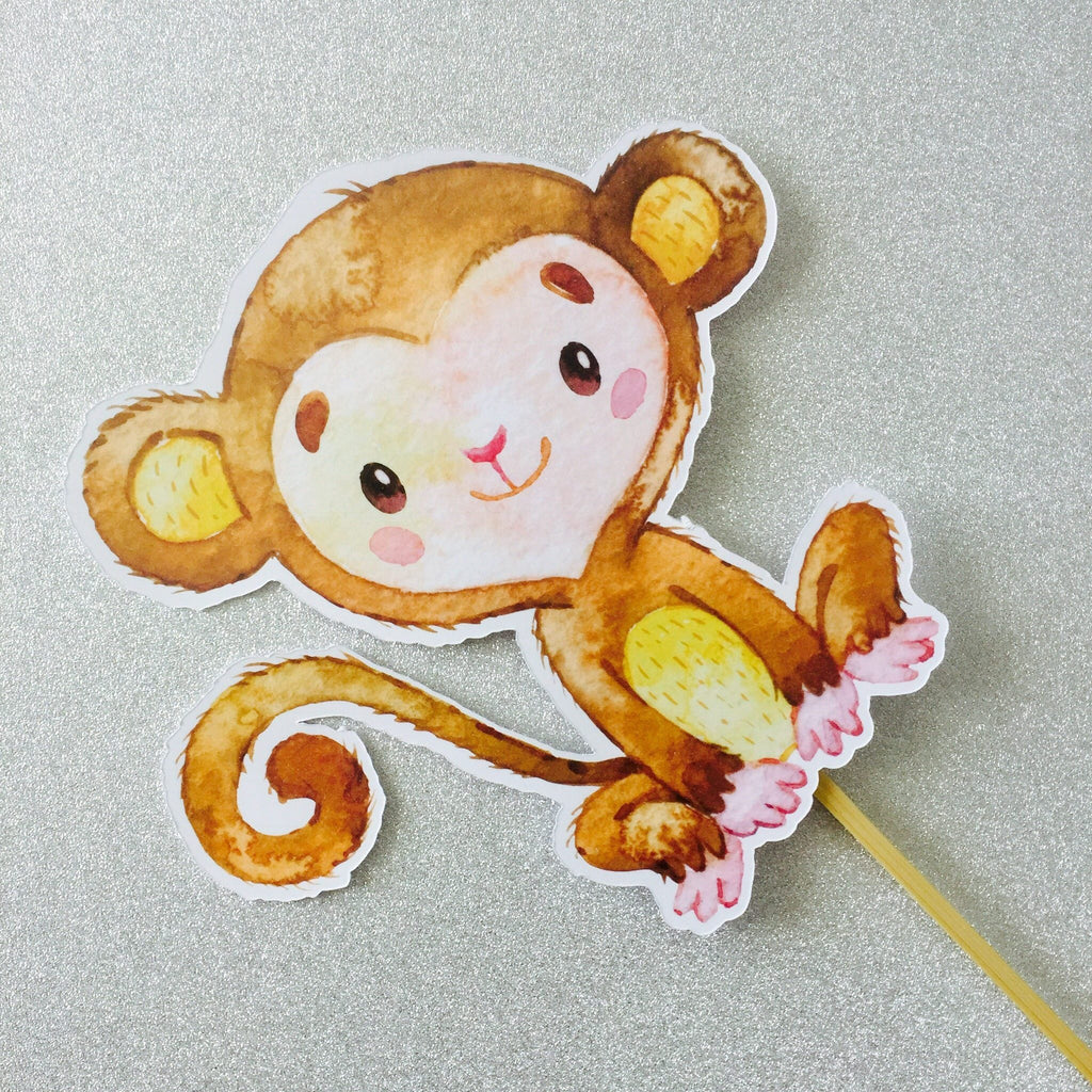 Dolkens Invitations Other Events Jungle Monkey Cake Topper