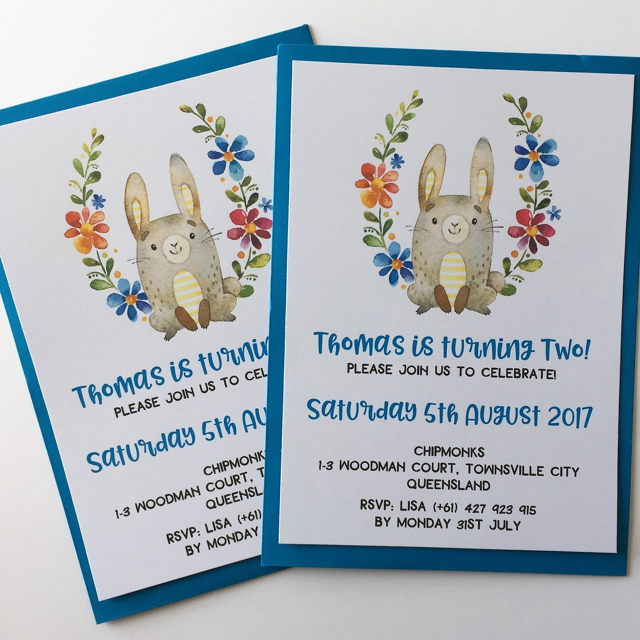 dolkens invitations other events woodland rabbit childrens birthday invitation