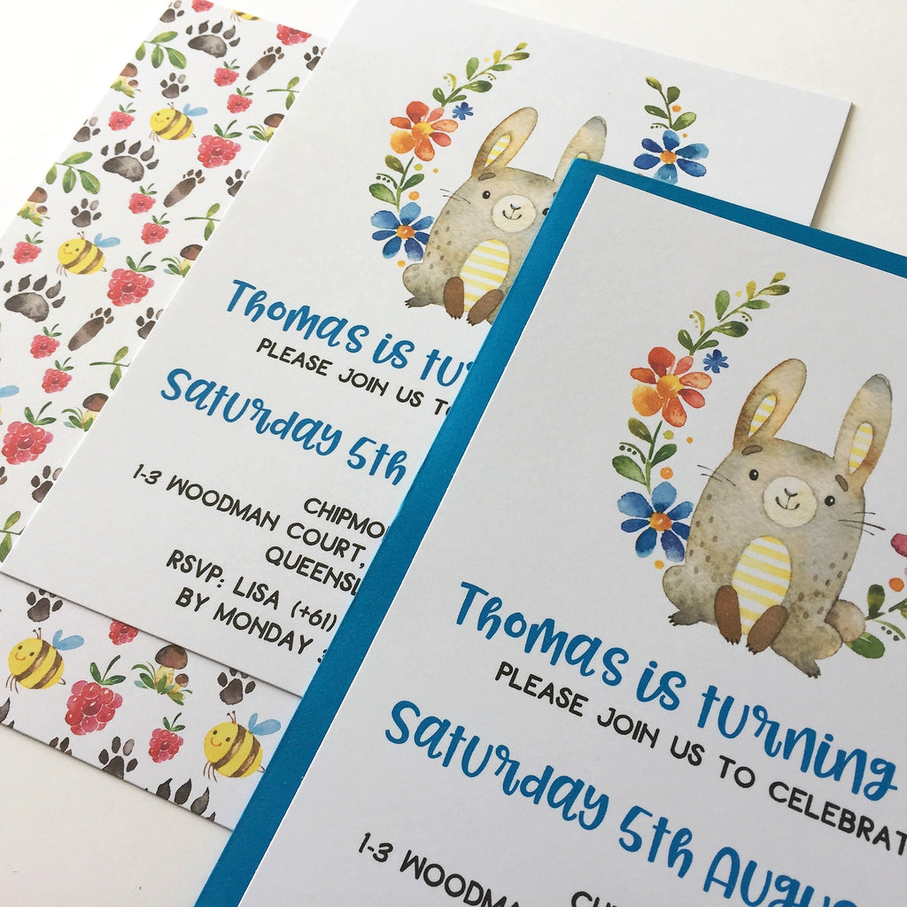 Dolkens Invitations Other Events Woodland Rabbit Children's Birthday Invitation