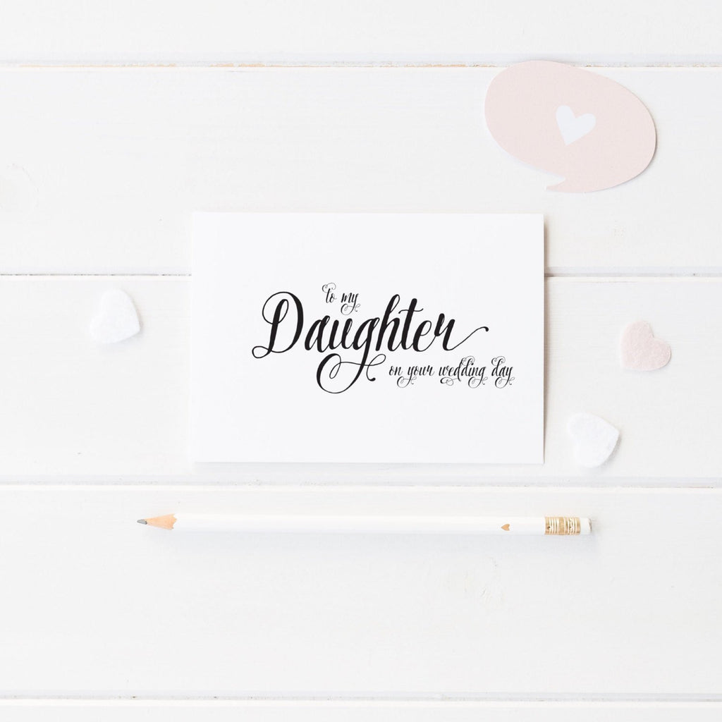 Dolkens Invitations Wedding Cards Calligraphy Son or Daughter Wedding Day Card