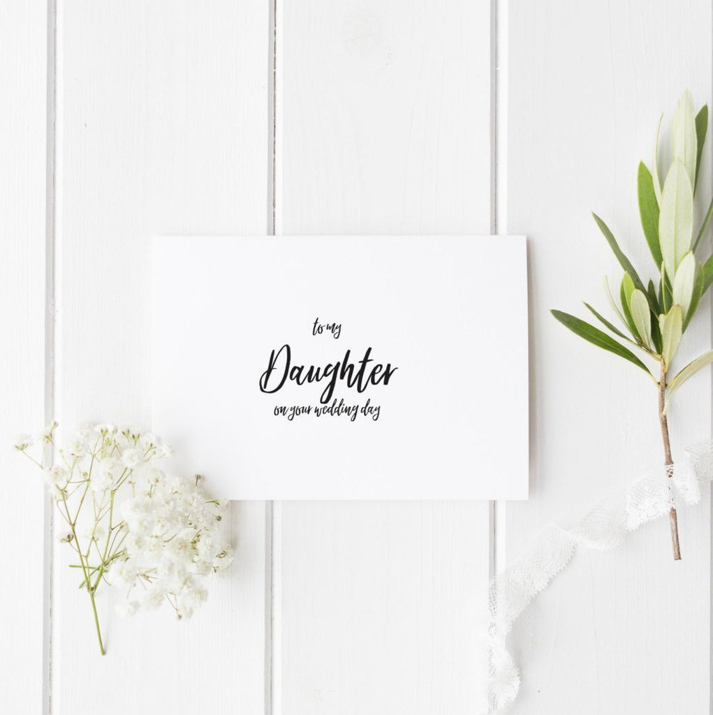 Dolkens Invitations Wedding Cards Minimal Son or Daughter Wedding Day Card