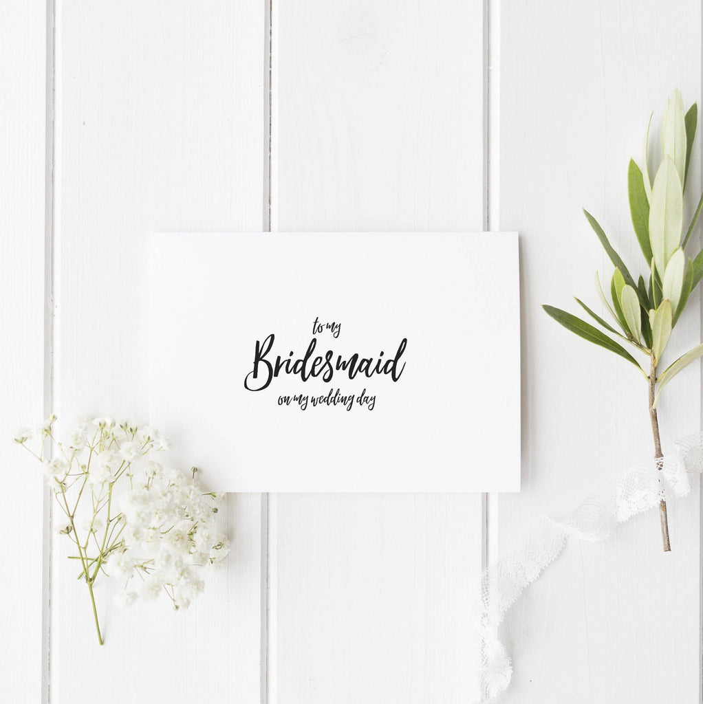 Dolkens Invitations Wedding Cards Minimal Wedding Day Cards for Bridal Party