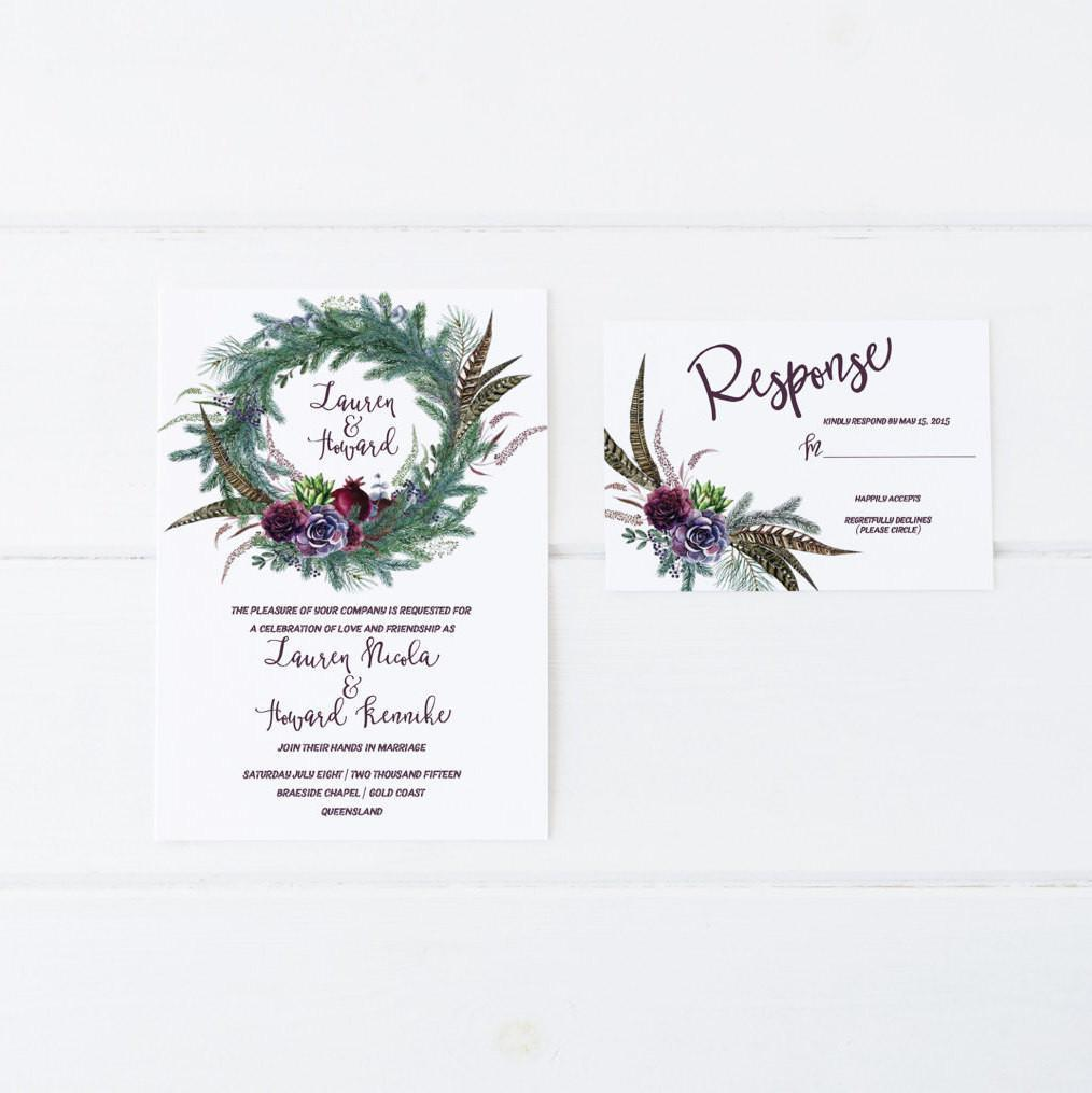 Enchanted winter wedding invitation suite dolkens invitations dolkens invitations wedding stationery enchanted winter wedding invitation suite junglespirit Images