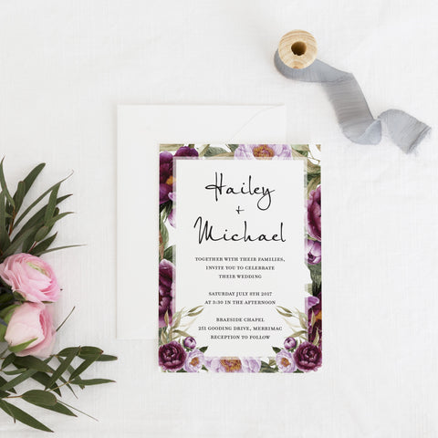 Dolkens Invitations Wedding Stationery Romantic Garden Wedding Invitation