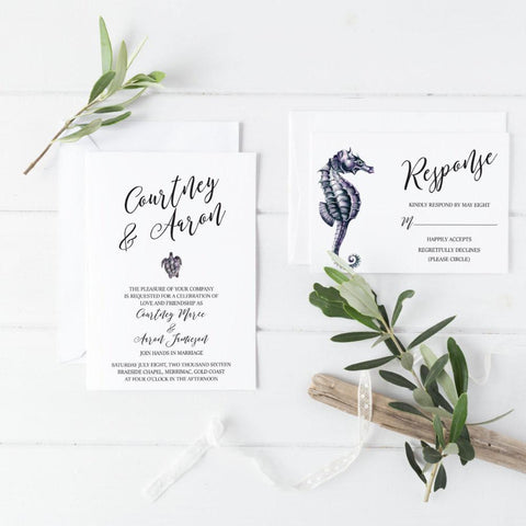 Dolkens Invitations Wedding Stationery Romantic Seaside Wedding Invitation Suite